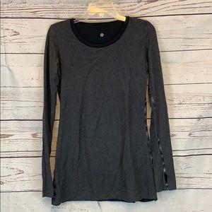 Lululemon Reversible Long Sleeve Jersey Top Sz 6/8
